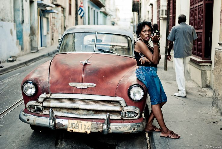 Cuban girl and American car | #Cuba