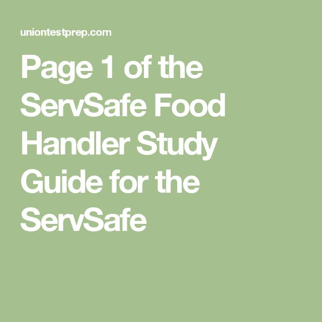 77 best Food Safety- ServSafe Mgr style images on Pinterest Food - food handlers answers