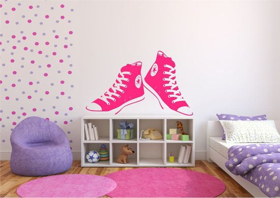 Converse Trainers Wall Sticker Stencil Vinyl Art Decal Mural Rocket Tattoo Wall Stickers WSD670