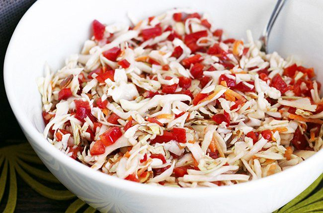 Red Pepper slaw