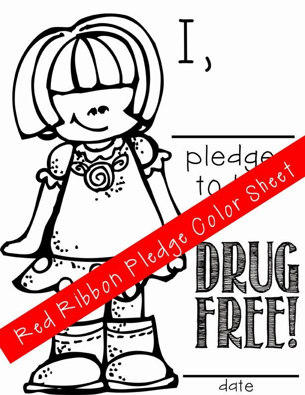 ARTrageous Fun Red Ribbon Week Just Say No Activities Pledge
