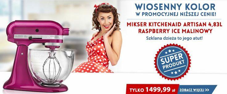 Kitchenaid Artisan Raspberry Ice - Not only is it an amazing mixer, but it's in a beautiful color ! http://madeinusa.com.pl/mikser-kitchenaid-artisan-ze-szklana-dzieza-rasberry-ice.html  Artisan 5 Raspberry Ice Malinowy - wiosenny kolor w promocyjnej cenie http://madeinusa.com.pl/mikser-kitchenaid-artisan-ze-szklana-dzieza-rasberry-ice.html