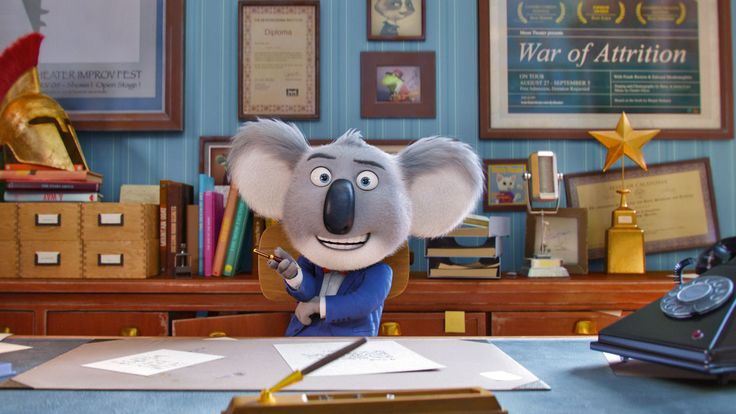 Sing - An optimistic koala tries to save his theater with a singing contest featuring a timid elephant, a teenage gorilla, an overworked sow and more.