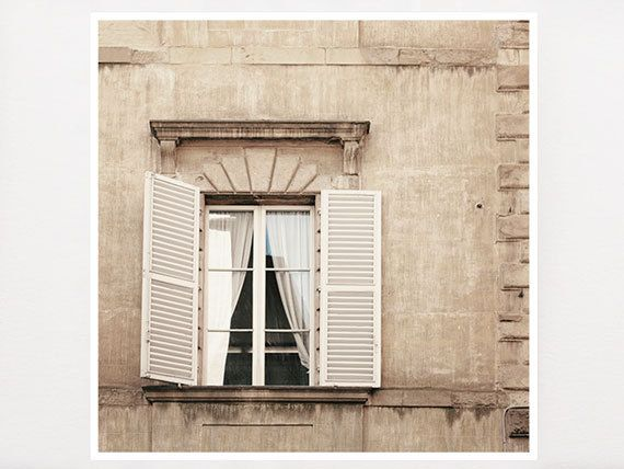 Sienna,  Italy Photography, Tuscany, Tuscan Photography, Home Decor, Window, White Shutters, Housewares, White, Italy, Tuscan Decor, Rustic