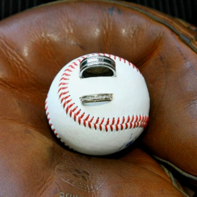 baseball wedding ring ring bearer pillow for baseball themed wedding 1509
