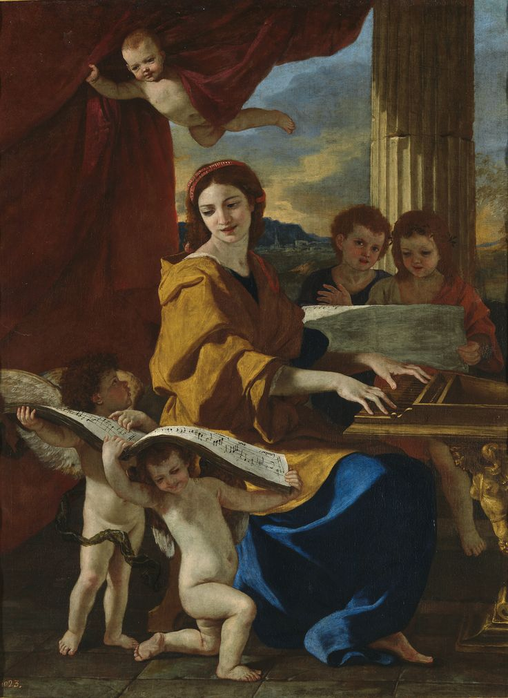 """Santa Cecilia"", Nicolas Poussin (ca.1635)"