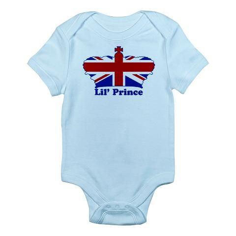 'Royal Family' Infant Bodysuit    http://www.cafepress.com/britshop.624593664    Babies love creepin', crawlin' and sleepin' in our super comfy, 100% cotton jersey knit Infant Creeper. Infant clothes shouldn't be hard to change, so our three-snap bottom helps ease those nasty diaper changes. Great baby stuff for your special little one.    - 5.5 oz. 100% cotton  - Three bottom snaps  - Standard T-shirt neck $19.99