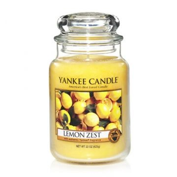 Yankee Candle Lemon Zest : The perfect blend of tart lemon zest softened with a hint of vanilla.