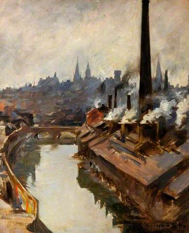 Sheffield River and Smoking Chimneys - Stanhope Alexander Forbes