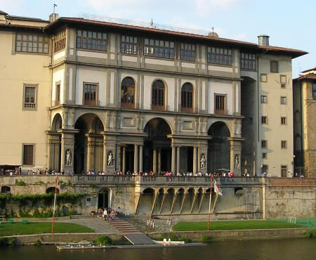 The Uffizi Gallery in Florence, Italy