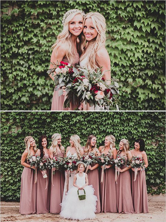 pink bridesmaid dresses @wedding chicks