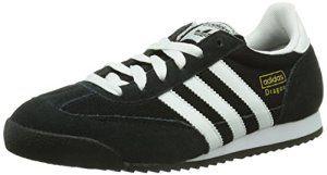 adidas Originals Dragon, Baskets mode homme – Noir (Noir1/Blanc/Ormét), 45 1/3 EU
