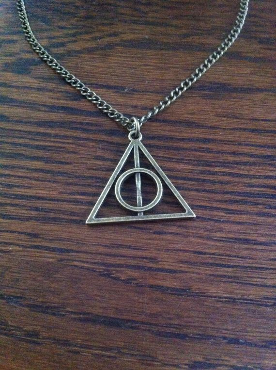 Deathly hallows Necklace by BexEverheart on Etsy $1.85