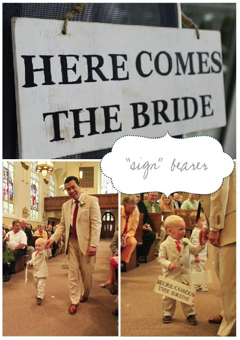 Ring bearer sign - love this idea