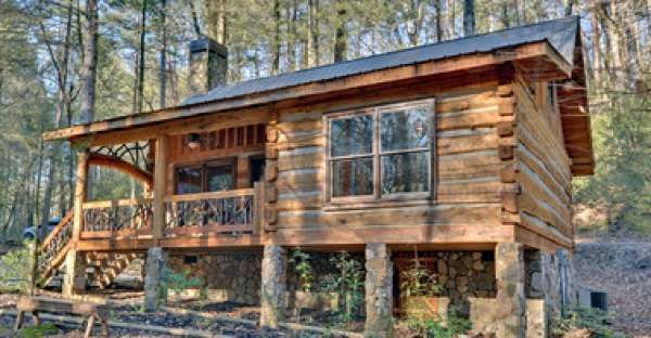 A Tiny Rustic Cabin Charmer
