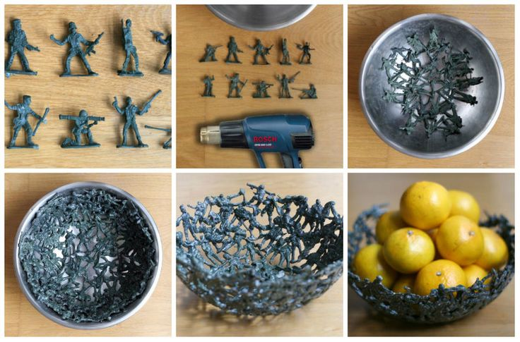 DIY Plastic Army Men Fruit Bowl