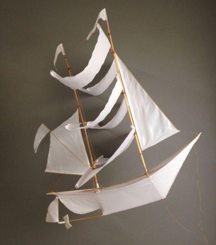 Cream pirate ship.