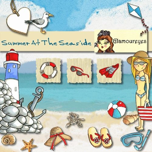 Summer at the Seaside By Glamoureyes