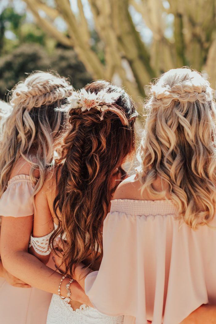 Blush And Wood Wedding At Leo Carrillo Ranch Hair Styles