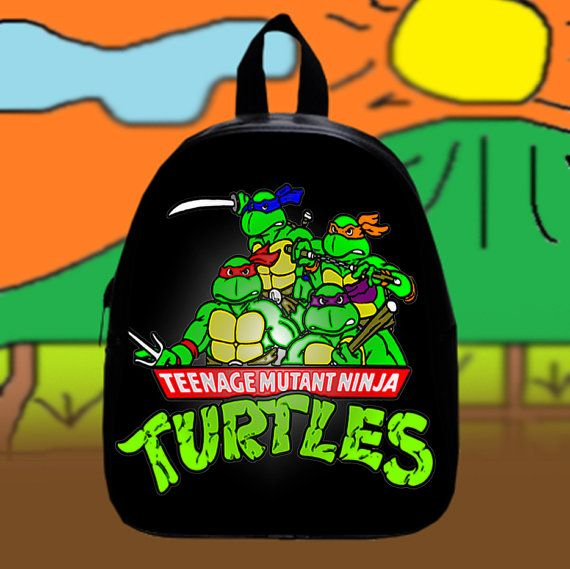 #Teenage #Mutant Ninja Turtles  Custom SchoolBags by KopiHitam55
