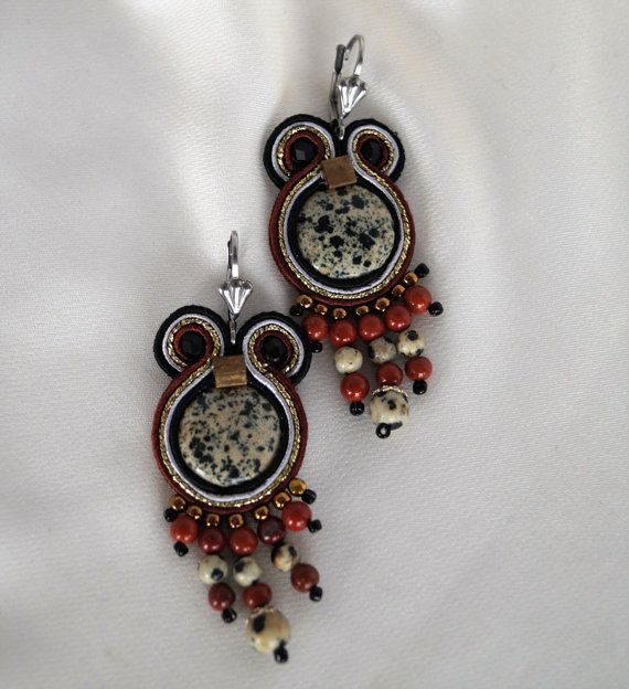 Unique soutache earrings