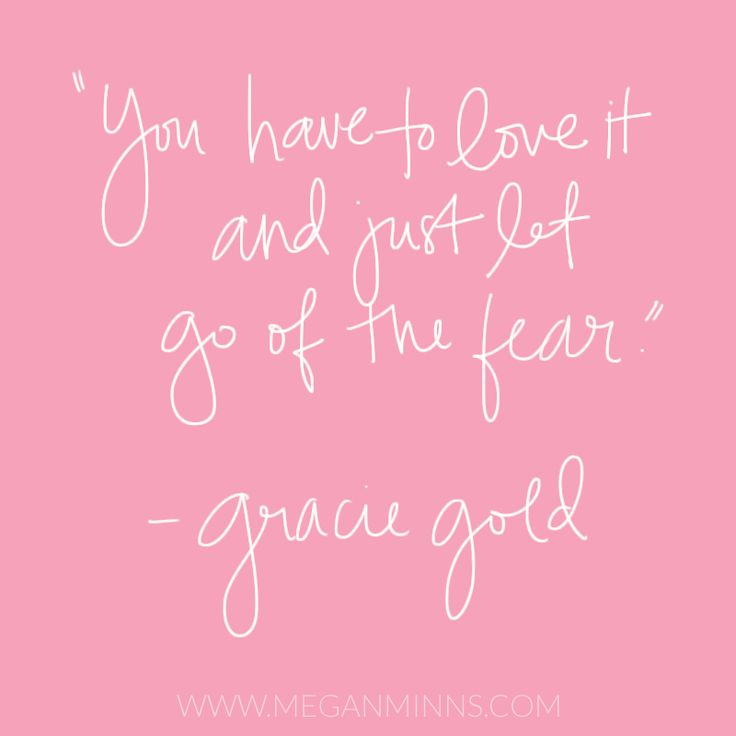 """You have to love it and just let go of the fear."" - Gracie Gold // meganminns.com"
