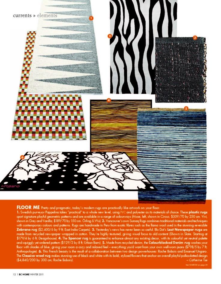 BC Home Magazine-  Sumaq Zebra Rug