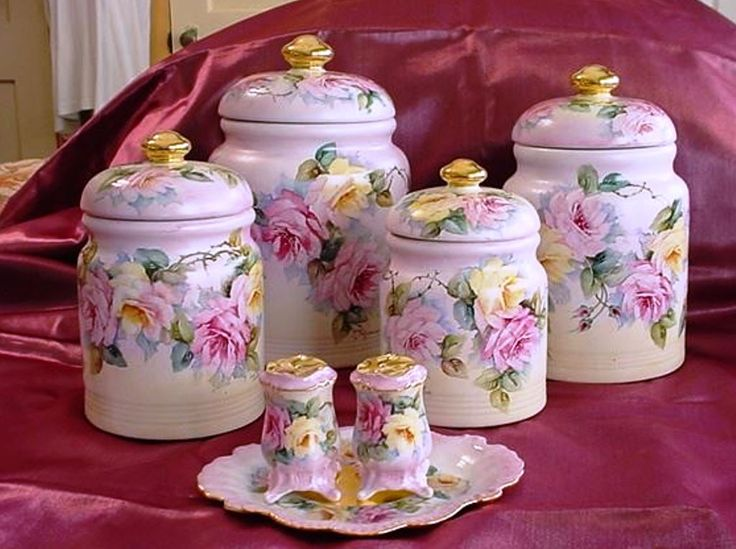 Hand Painted Canisters