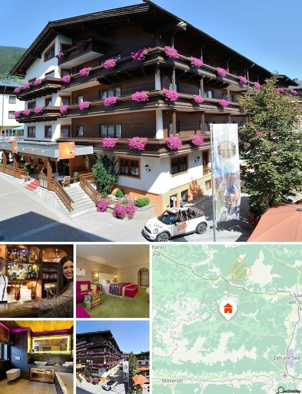 Situated in the very heart of Saalbach, directly at Dorfstrasse, only 80 m from the Bernkogel ski lift and 250 m from the Kohlmaisbahn lift, guests will enjoy their stay in a first-class atmosphere. The bus station is roughly 100 m from the hotel and the railway station is some 20 km away. Salzburg Airport is situated at a distance of approximately 86 km and Innsbruck Airport about 180 km.