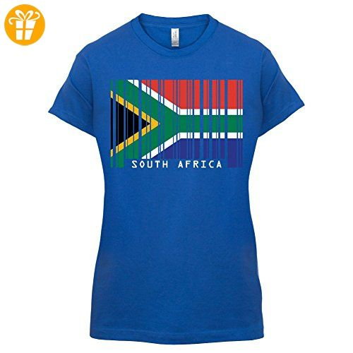 South Africa / Südafrika Barcode Flagge - Damen T-Shirt - Royalblau - S (*Partner-Link)