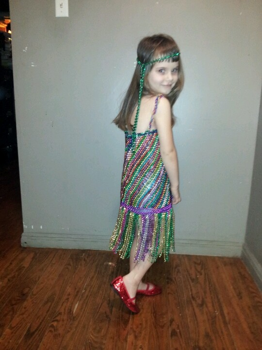 Dress Made From Duct Tape And Mardi Gras Beads Stuff I