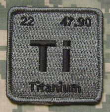 TITANIUM ELEMENT TI TACTICAL ISAF US ARMY MORALE MILSPEC ACU DARK VELCRO PATCH