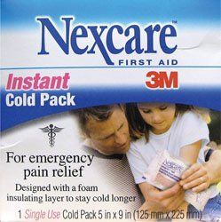 "3M Commercial Office Supply Div. : Instant Cold Pack, No Refrigeration Needed, 5""x9"" -:- Sold as 1 EA by Unknown. $2.19. Instant Cold Pack activates instantly for emergency pain relief. No refrigeration needed. Instant cold pack includes foam insulating layer to stay cold 50 percent longer than other cold packs."