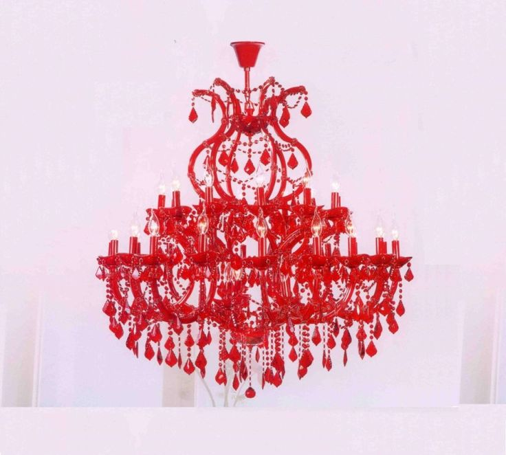 Inexpensive Red Chandelier: 17 Best Ideas About Red Chandelier On Pinterest