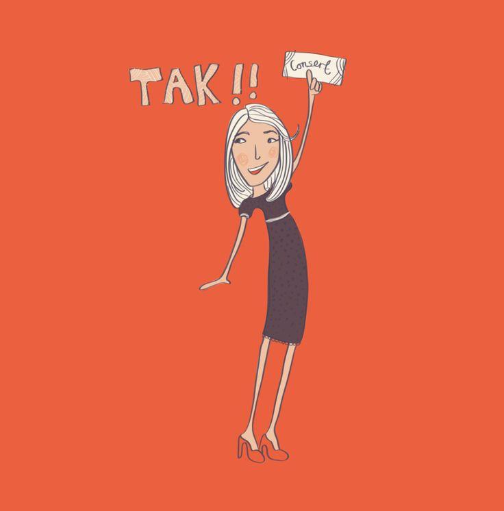 Editorial illustration, #magazine #illustration #vibekehoie #thanks #takknemlig #drawing #red