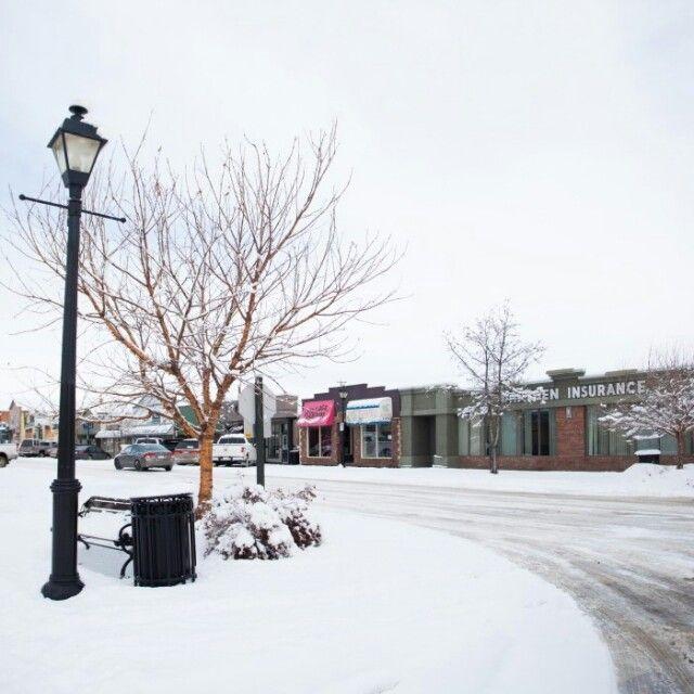 I love how Main Street Stony Plain looks in winter.