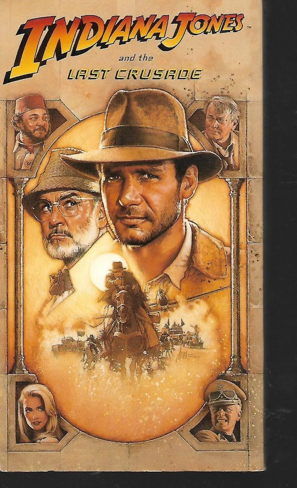 Indiana Jones And The Last Crusade Harrison Ford Vhs Indiana Jones Last Crusade Indiana Jones Movie Posters Vintage
