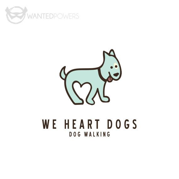 Cute illustrated dog walking with negative space between paws shaped like a heart, perfect for your pet-related business! | Logo Design, Graphic Design, Puppy Dog, Heart Negative Space, Tongue Out Tuesday, Adorable Pet Sitter, Dog Walker, Doggie Daycare, Illustration, Animal Design, Funny Character, Love Walking, Custom Pre-Made Logo, Pet Logo