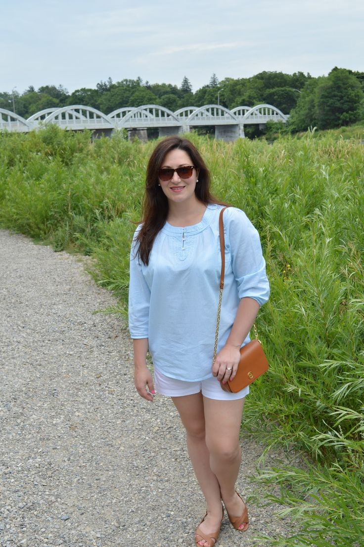 Celebrating this Life: Dog Days of Summer {summer fashion, summer preppy style, classic summer outfit, L.L.Bean summer, blue white and tan}
