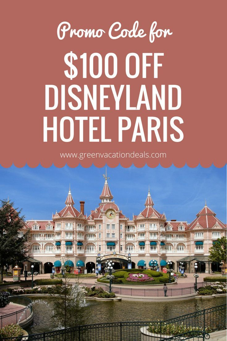 Disneyland Paris Travel Tip - how to stay at Disneyland Hotel and save $100 with a promo code! Check it out before your next Disneyland Paris vacation.