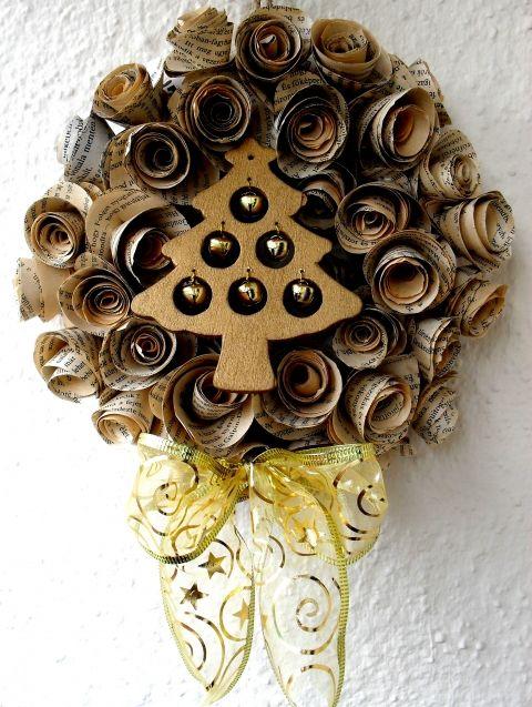 Christmas Novel Wreath