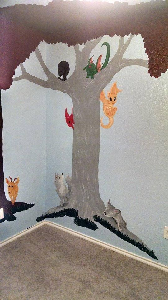 Game Of Thrones Nursery Stag Wolves Dragons 3 Eyed