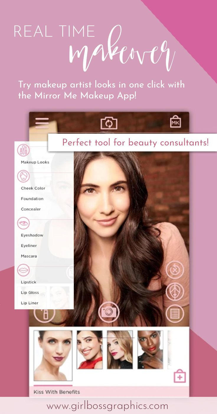 Download the Mirror Me Makeup App as the perfect Mary Kay