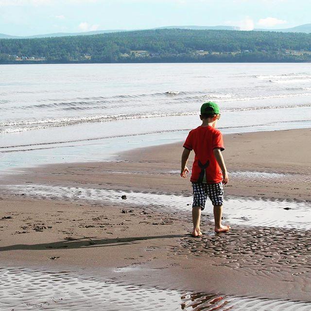 La #gaspesie et ses #plages magnifiques #saintlaurent #golfesaintlaurent #plage…