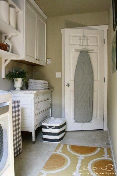 Michelle - Blog #Ironing #Iboard #Iidea Fonte : http://jonesdesigncompany.com/decorate/the-laundry-room-is-finished/
