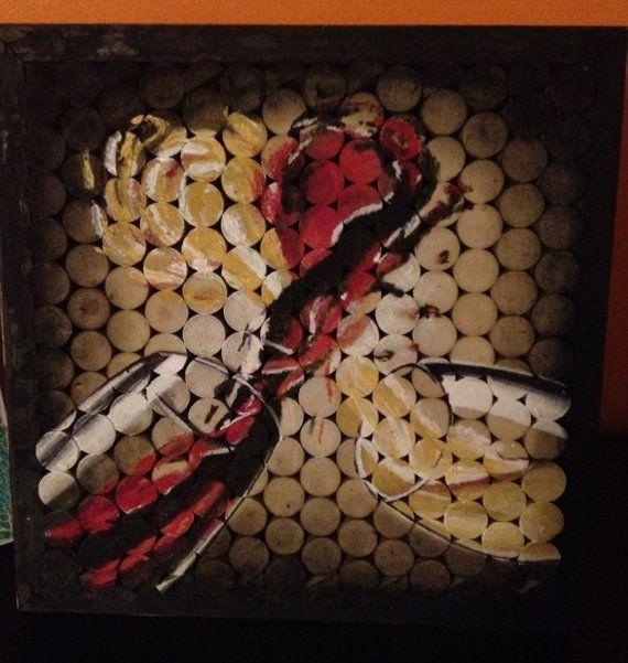 wine painting on wine corks by artofnellieb on Etsy