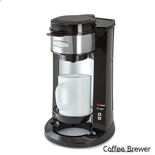 Coffee Brewer - BELLA Dual Brew Single Serve Personal Coffee Maker, K Cup, K cup 2.0 and ground coffee brewer