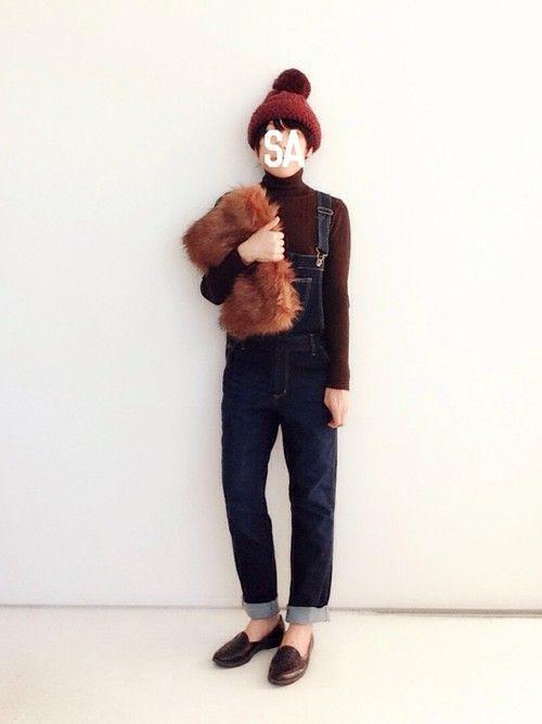SACHIさんのニット・セーター「AMBIVALENCE 薄手タートルネックニット(Y叔母さんのお下がり)」を使ったコーディネート
