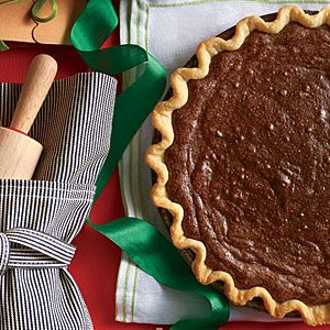 This recipe is in Dec. 2013 Southern Living mag. It's the best chocolate pie I've ever had! It's called Hot Fudge Pie.