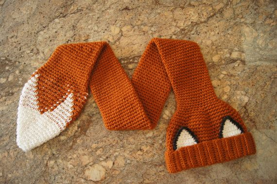 25+ best ideas about Fox scarf on Pinterest Scarf crochet, Knitted slippers...
